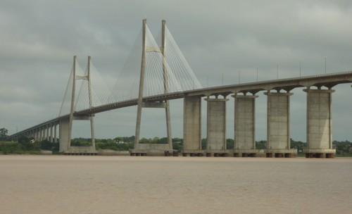 Rosario to Victoria Bridge that spans the delta just north of Rosario.