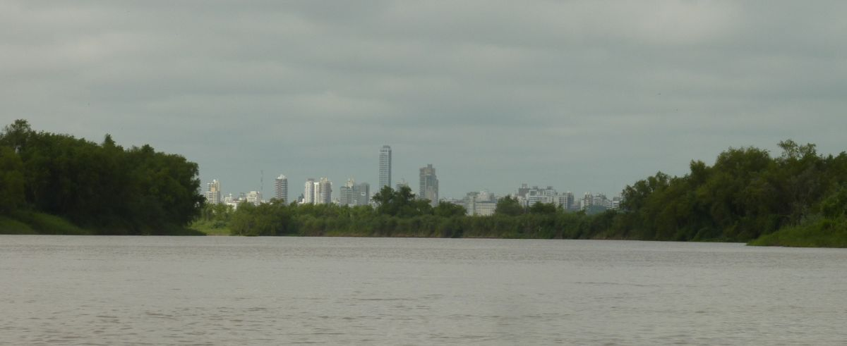 Rosario seen over the low island from the delta
